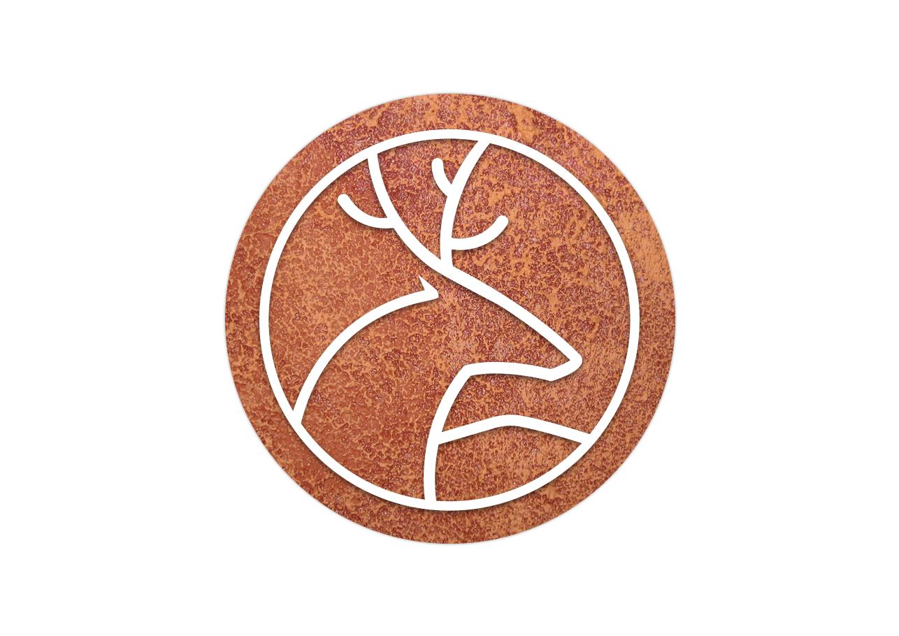 Wilhelm logo White on brown